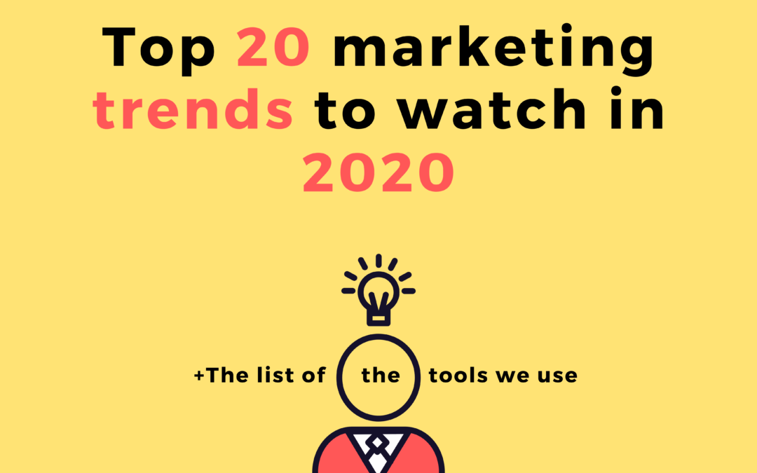 Top 20 Marketing Trends to Watch in 2020