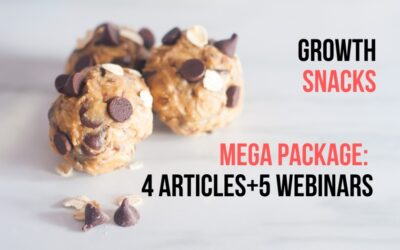 Ultimate Growth Snacks, 4 articles and 5 Webinars