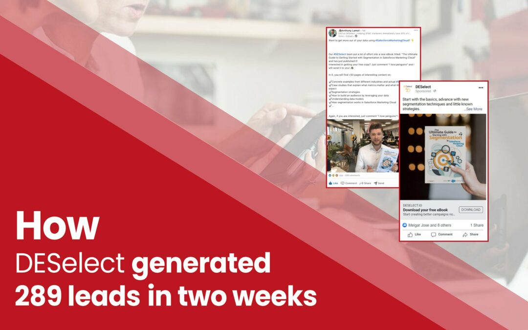 DESelect Case Study: A lead magnet + LinkedIn campaign that brought 289 leads to a SaaS company in two weeks.